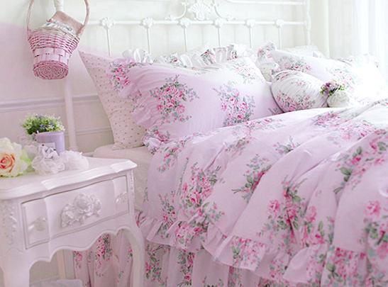 king queen full twin princess shabby floral chic pink duvet comforter cover set ebay. Black Bedroom Furniture Sets. Home Design Ideas