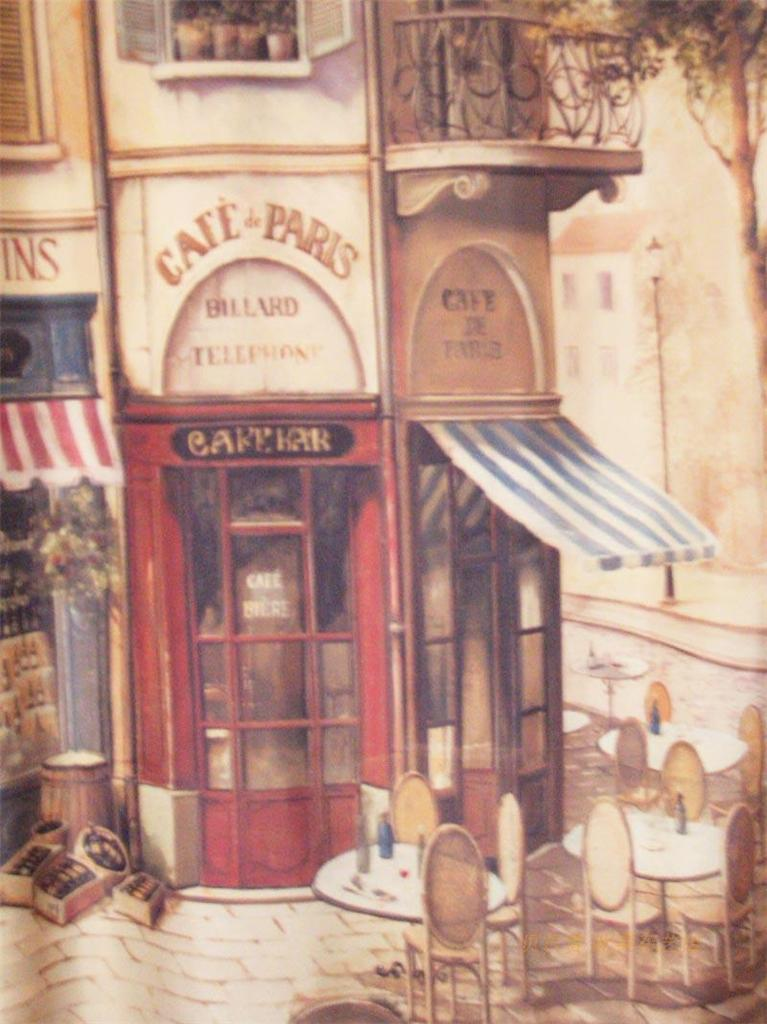 French Country Paris Cafe House Shower Curtain C Style