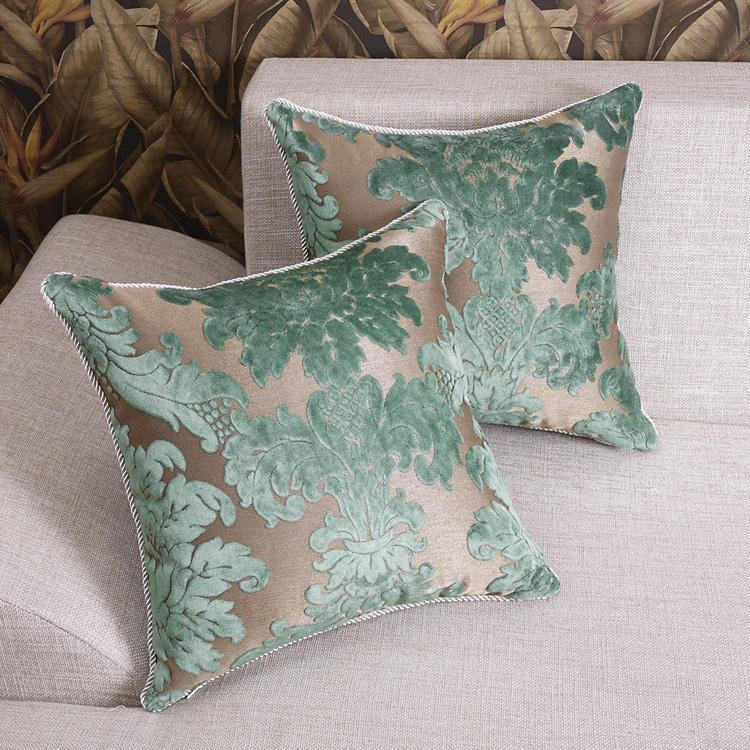 Luxury Decorative Pillow Collection : Luxury French Roy Classic Collection Damask Green Velvet Pillow Cushion Cover G eBay