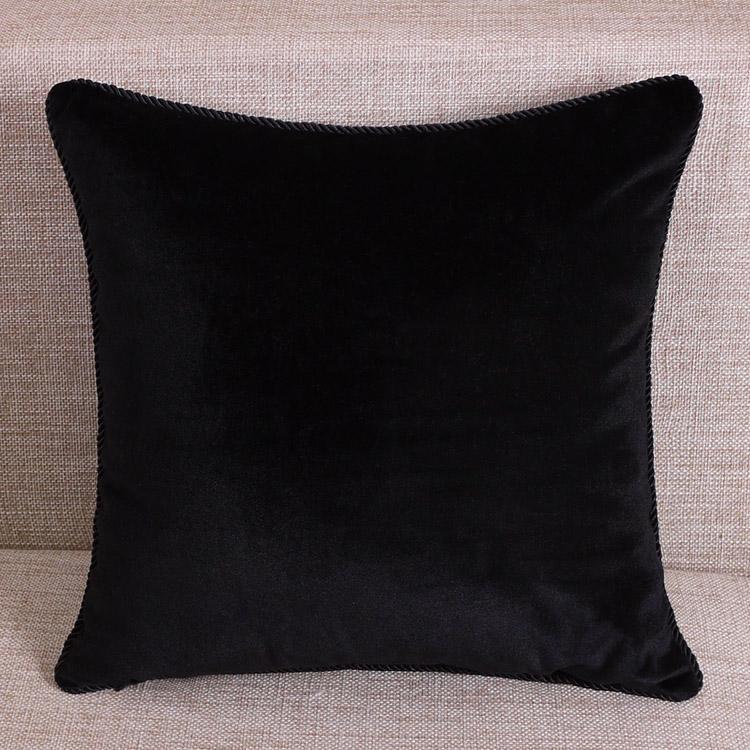 Beige Coffee Grey Blue Rose Red Black Velvet Throw Pillow Cushion Cover Fashion eBay