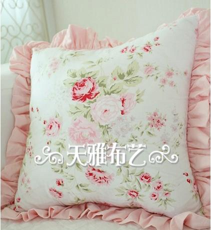 White Shabby Chic Pillow Cases : Shabby French Country Chic Princess Floral White Cushion Cover Pillow Case Sham eBay