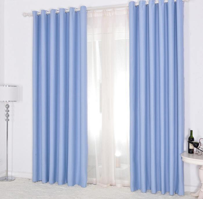 2 x light pink purple blue khaki blockout blackout curtain. Black Bedroom Furniture Sets. Home Design Ideas