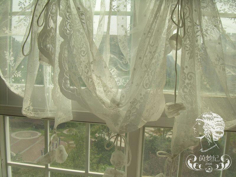 ... Country Lace Austrian Balloon Shade Sheer Voile Cafe Kitchen Curtain J