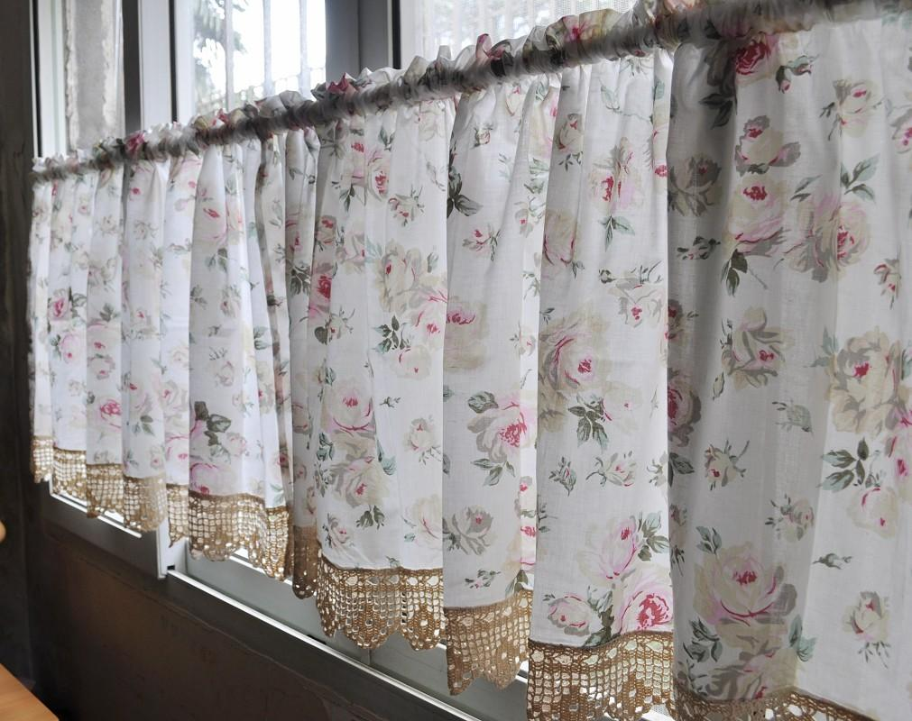 French country floral rose cafe kitchen curtain 007 ebay - French country kitchen curtains ...