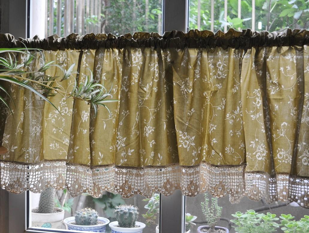 French Country Floral Rose Cafe Kitchen Curtain Valance 008 Ebay