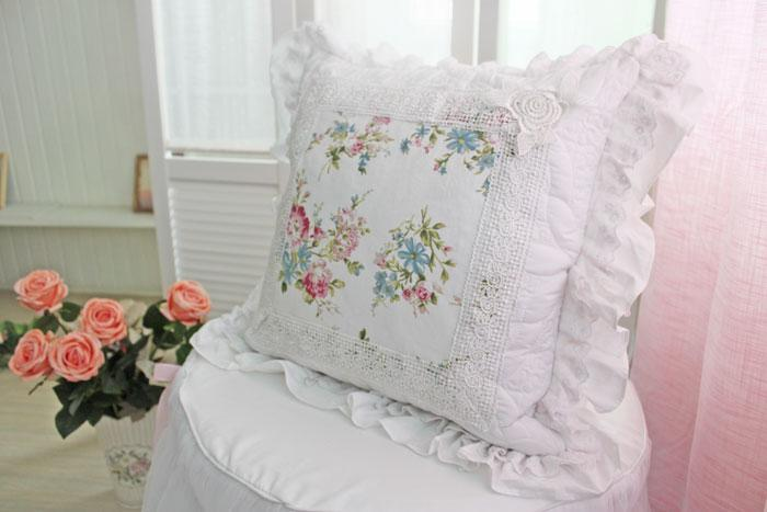 White Shabby Chic Pillow Cases : Shabby French Chic Princess Floral White Cushion Cover Pillow Case Sham 003 eBay
