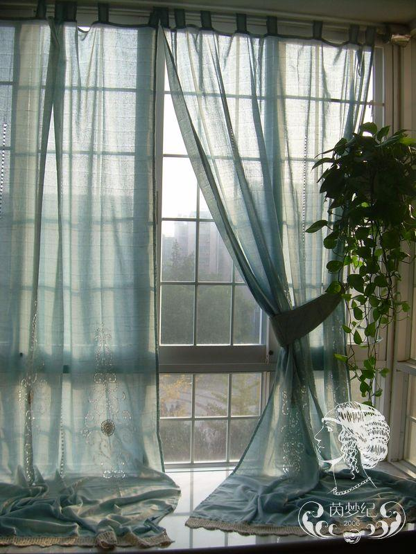 country blue curtains