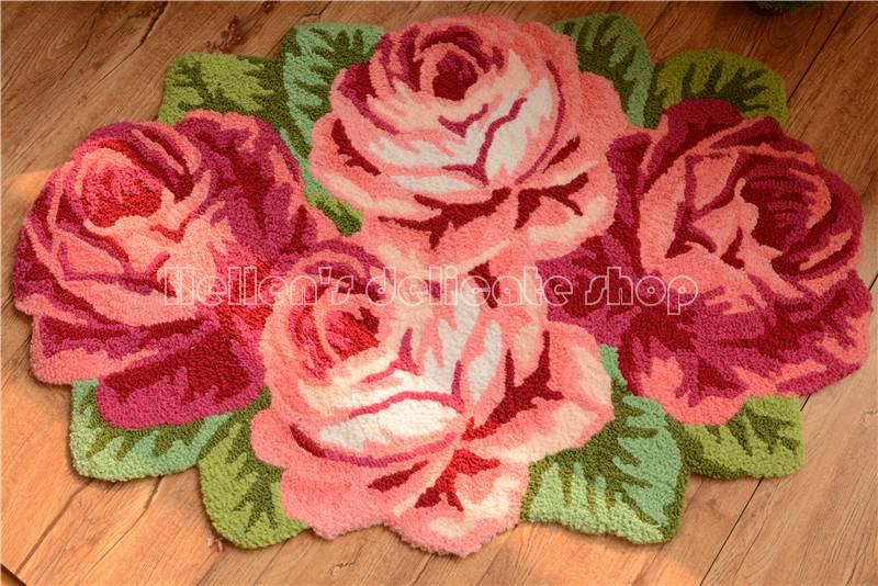 Country Shabby Floral Chic Pink Rose Bedroom Bath Rug Floor Door Mat Runner Ebay