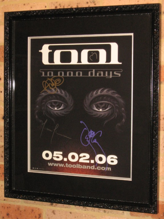 TOOL-FULLY-HAND-SIGNED-CUSTOM-FRAMED-LITHOGRAPH-VERY-RARE