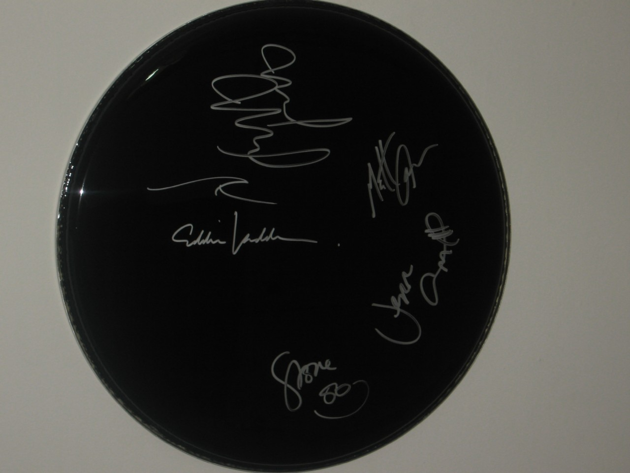 PEARL-JAM-FULLY-HAND-SIGNED-16-INCH-DRUMHEAD-MINT-CONDITION