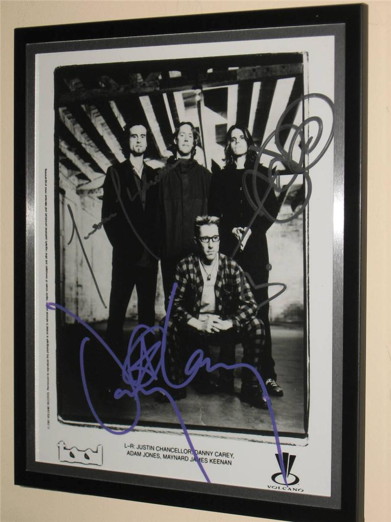 TOOL-FULLY-SIGNED-FRAMED-8-X-10-VOLCANO-RECORDS-MEDIA-STYLE-PHOTO