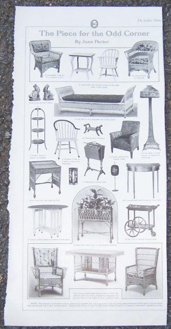 1916 LADIES HOME JOURNAL PAGE FOR FURNITURE FOR THE ODD CORNER, Advertisement