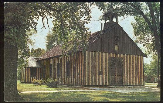 POSTCARD - Old Holy Family Church, Cahakia, Illinois