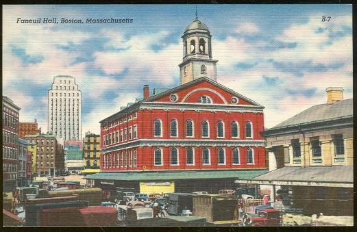 FANEUIL HALL, BOSTON, MASSACHUSETTS, Postcard