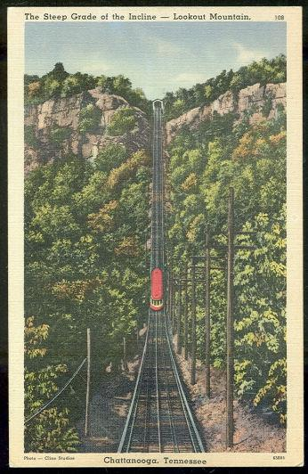 STEEP GRADE OF THE INCLINE RAILROAD, CHATTANOOGA, TENNESSEE, Postcard