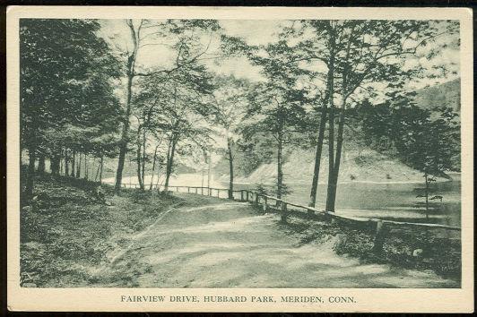 FAIRVIEW DRIVE, HUBBARD PARK, MERIDEN, CONNECTICUT, Postcard