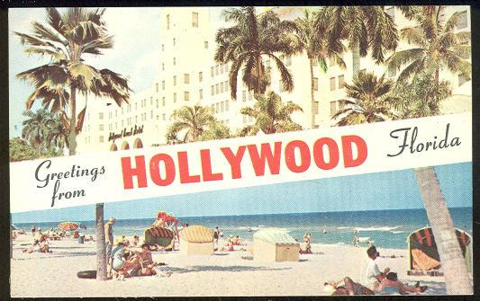 GREETINGS FROM HOLLYWOOD, FLORIDA, Postcard