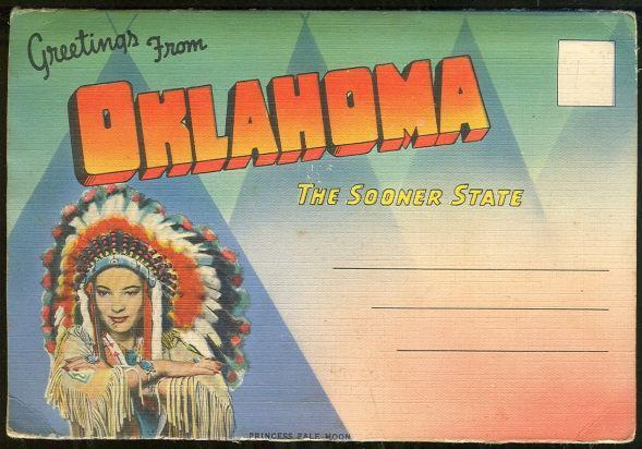SOUVENIR POSTCARD FOLDER FROM OKLAHOMA, THE SOONER STATE, Postcard