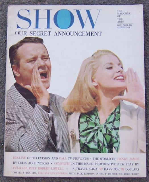 SHOW THE MAGAZINE OF THE ARTS AUGUST 1964, Show Magazine