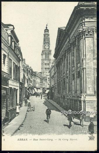 RUE SAINT-GREY, ST. GREY ST., ARRAS, FRANCE, Postcard