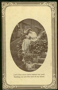 COURTING COUPLE, LET'S KISS ONCE MORE, Postcard