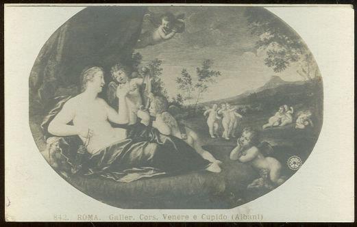 ROMA GALLER CORS. VENERE E CUPIDO ALBANI, Postcard