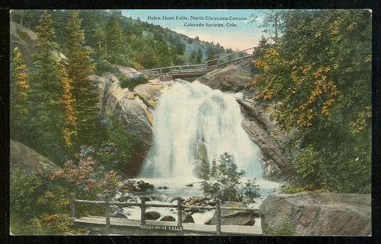 HELEN HUNT FALLS, COLORADO SPRINGS, COLORADO, Postcard