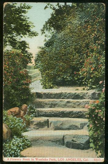 FLOWERY NOOK IN WESTLAKE PARK, LOS ANGELES, CALIFORNIA, Postcard