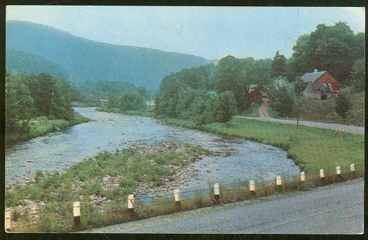 MOLLY STARK TRAIL BETWEEN BENNINGTON AND BRATTLEBORO, VERMONT, Postcard