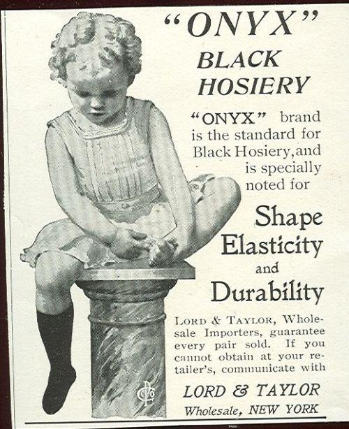 1901 LADIES HOME JOURNAL ONYX BLACK HOSIERY MAGAZINE ADVERTISEMENT, Advertisement
