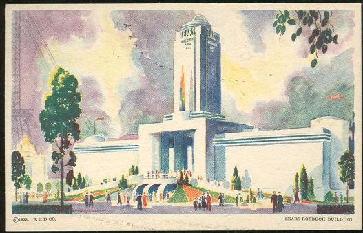 SEARS ROEBUCK BUILDING, A CENTURY OF PROGRESS, INTERNATIONAL EXPOSITION 1933, CHICAGO, ILLINOIS, Postcard