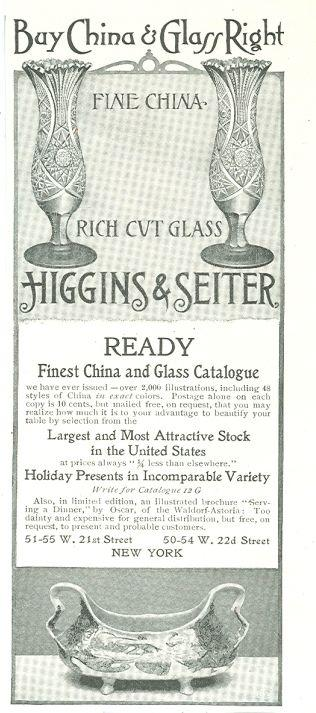 1901 LADIES HOME JOURNAL HIGGINS AND SEITER MAGAZINE ADVERTISEMENT, Advertisement