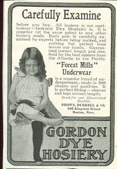 1901 LADIES HOME JOURNAL GORDON DYE HOSIERY MAGAZINE ADVERTISEMENT, Advertisement