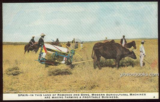 SPAIN, INTERNATIONAL HARVESTER COMPANY OF AMERICA, CHICAGO, Postcard