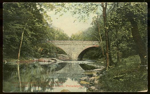 NEW BRIDGE FAIRMONT PARK, PHILADELPHIA, PENNSYLVANIA, Postcard
