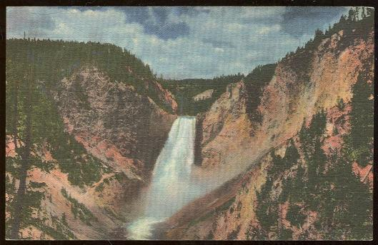 GREAT FALLS, YELLOWSTONE NATIONAL PARK, Postcard