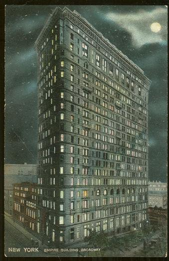EMPIRE BUILDING, BROADWAY, NEW YORK CITY, NEW YORK, Postcard