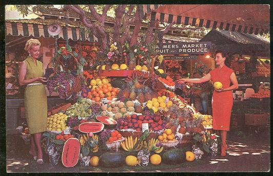 FARMER'S MARKET, LOS ANGELES, CALIFORNIA, Postcard