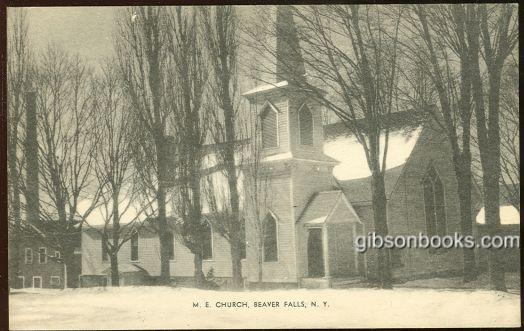 M. E. CHURCH, BEAVER FALLS, NEW YORK, Postcard