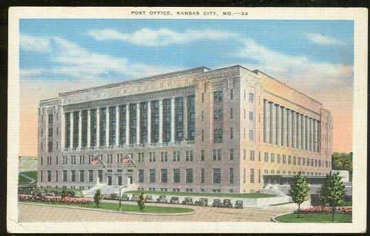POST OFFICE, KANSAS CITY, MISSOURI, Postcard
