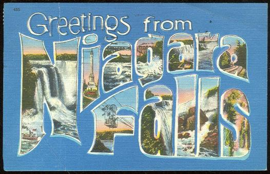POSTCARD - Greetings Postcard from Niagara Falls, New York