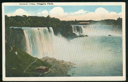 GENERAL VIEW, NIAGARA FALLS, NEW YORK, Postcard