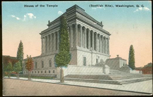HOUSE OF THE TEMPLE, SCOTTISH RITE, WASHINGTON, D. C, Postcard