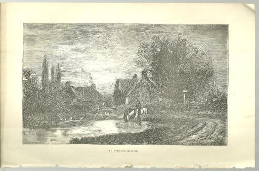 EVENING IN JUNE PRINT FROM 1876 PETERSON'S MAGAZINE