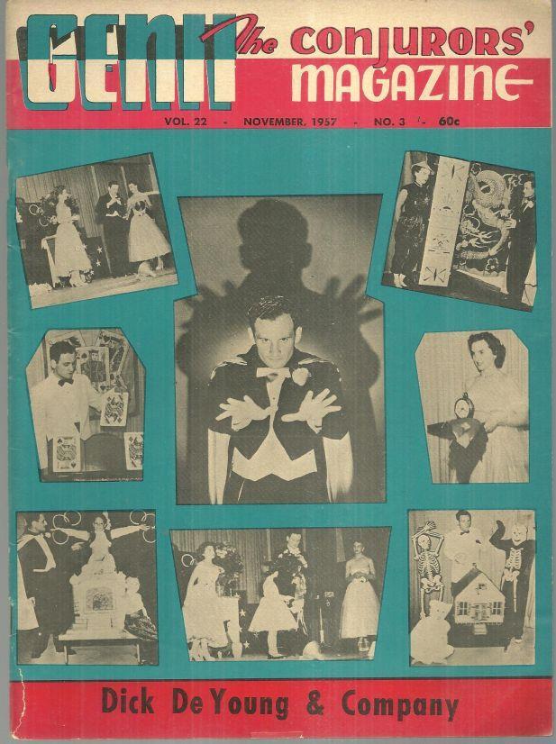 GENII THE CONJURORS' MAGAZINE NOVEMBER 1957, Genii Magazine