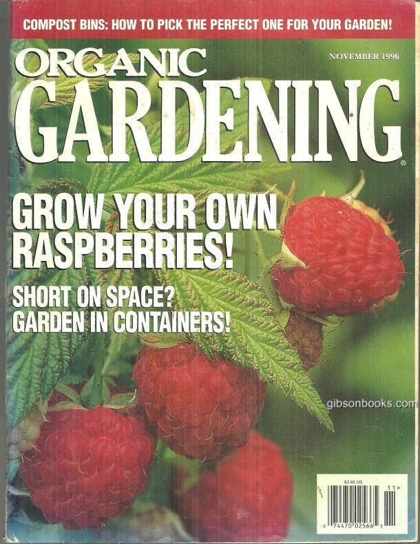 ORGANIC GARDENING MAGAZINE NOVEMBER 1996, Rodale Press