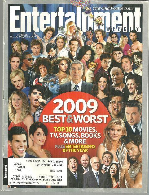 ENTERTAINMENT WEEKLY MAGAZINE DECEMBER 25, 2009 Year-End Double Issue, Entertainment Weekly