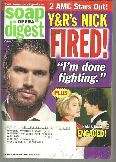 SOAP OPERA DIGEST JANUARY 22, 2008, Soap Opera Digest