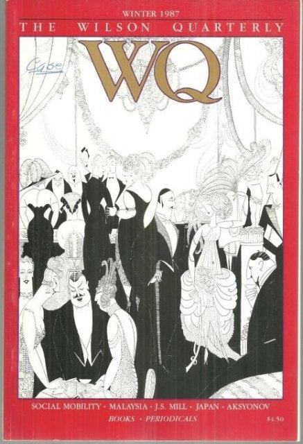WILSON QUARTERLY WINTER 1987, Wilson Quarterly