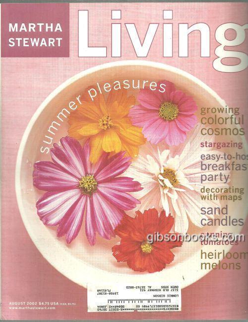 MARTHA STEWART LIVING MAGAZINE AUGUST 2002, Stewart, Martha